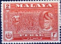 State of Perak 1957 SG 151 Pineapples Fine Mint