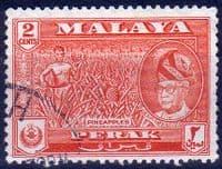State of Perak 1957 SG 151 Pineapples Fine Used