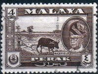 State of Perak 1957 SG 152 Rice Field Fine Used
