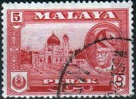 State of Perak 1957 SG 153 Mosque Fine Used