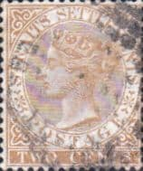 Straits Settlements 1867 Queen Victoria SG 11 Used