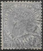 Straits Settlements 1867 Queen Victoria SG 13 Used