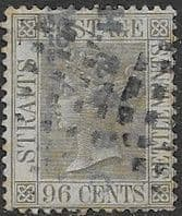 Straits Settlements 1867 Queen Victoria SG 19 Good Used