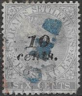 Straits Settlements 1880 Queen Victoria SG 44 Used