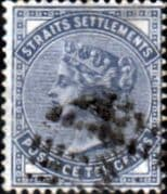 Straits Settlements 1882 Queen Victoria SG 49 Fine Used