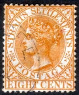 Straits Settlements 1882 Queen Victoria SG 52 Fine Used