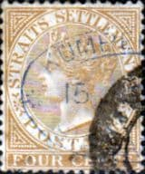 Straits Settlements 1883 Queen Victoria SG 64 Fine Used