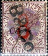 Straits Settlements 1884 Queen Victoria Surcharged SG 80 Fine Used