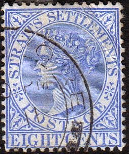 Straits Settlements 1892 Queen Victoria SG 101 Fine Used
