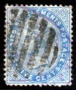 Straits Settlements 1892 Queen Victoria SG 65 Fine Used