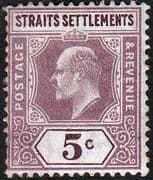 Straits Settlements 1902 King Edward VII SG 113 Fine Mint