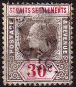 Straits Settlements 1904 King Edward VII SG 134 Fine Used