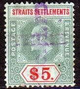 Straits Settlements 1904 King Edward VII SG 138 Good Used