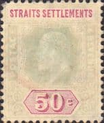 Straits Settlements 1906 King Edward VII SG 164 Good Used