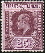 Straits Settlements 1906 SG 161 King Edward VII Head Fine Mint