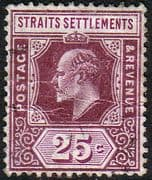 Straits Settlements 1906 SG 161 King Edward VII Head Fine Used