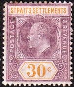 Straits Settlements 1906 SG 162 King Edward VII Head Fine Mint