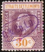 Straits Settlements 1906 SG 162 King Edward VII Head Fine Used