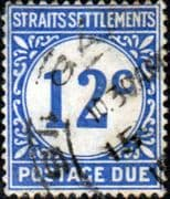 Straits Settlements 1924 Postage Due Stamps SG D6 Fine Used