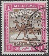 Sudan 1900 Official  SG O2 Camel Postman Fine Used