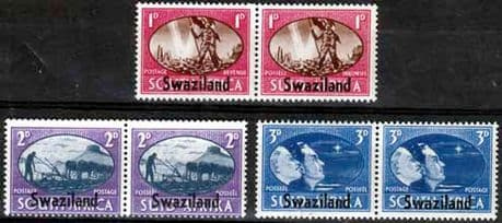 Swaziland 1946 King George VI Victory Set Fine Mint Stamps