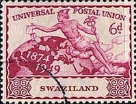 Swaziland 1949 Universal Postal Union SG 50 Fine Used