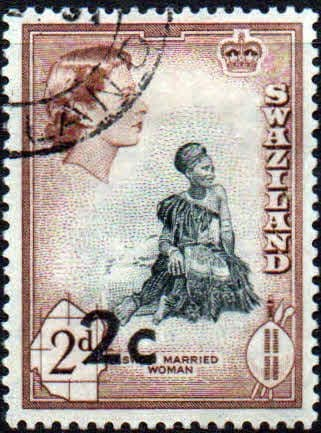 Swaziland 1961 SG 67 Swazi Married Woman Decimal Surcharge Fine Used