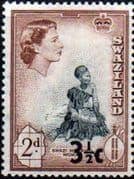 Swaziland 1961 SG 70 Swazi Married Woman Decimal Surcharge Fine Mint
