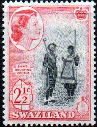 Swaziland 1961 SG 81 Courting Couple Fine Mint
