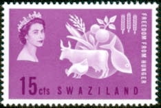 Stamps Swaziland 1963 Freedom From Hunger Fine Mint