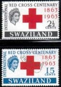 Swaziland 1963 Red Cross Centenary Set Fine Used
