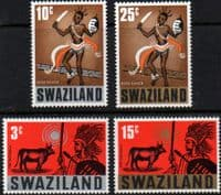 Swaziland 1968 Traditional Customs Set Fine Mint