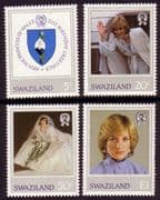 Swaziland 1982 Diana 21st Birthday Set Fine Mint