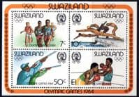 Swaziland 1984 Olympic Games Miniature Sheet Fine Mint
