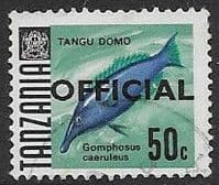 Tanzania 1967 Fish SG O25 Official Fine Used