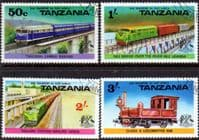 Tanzania 1976 Railway Transport Set Fine Used
