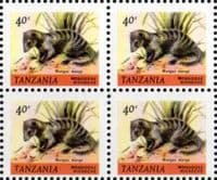 Tanzania 1980 Wildlife SG 309 Fine Mint Block of 4