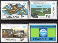 Tanzania 1984 Civil Aviation Set Fine Mint