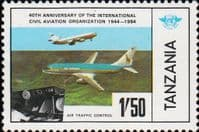 Tanzania 1984 Civil Aviation SG 406 Fine Mint