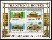 Tanzania 1984 Traditional Houses Miniature Sheet Fine Mint