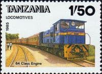Tanzania 1985 Tanzanian Railway Steam Locomotives SG 445 Fine Mint