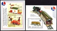 Tanzania 1992 Genova 92 Toy Trains Miniature Sheets Fine Mint