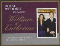 Tokelau 2011 Royal Wedding Miniature Sheet Fine Mint