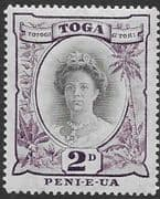 Tonga 1920 SG 57 Queen Salote Fine Mint
