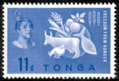 Tonga 1963 Freedom From Hunger Fine Mint