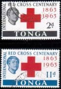 Tonga 1963 Red Cross Centenary Set Fine Used