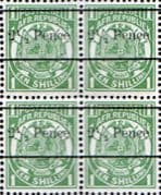 Transvaal 1893 SG 198 1/2d. Surcharged Fine Mint Block of 4