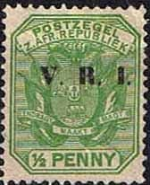 Transvaal 1900 SG 226 Coat of Arms with V.R.I. Overprint Fine Mint