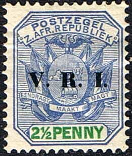 Transvaal 1900 SG 229 Coat of Arms with V.R.I. Overprint Fine Mint