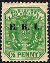 Transvaal 1901 SG 238 Coat of Arms with ERI Overprint Fine Mint